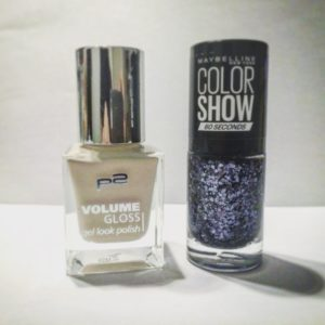 p2 volume gloss gel look polish cream maker & Maybelline Colorshow Black Magic