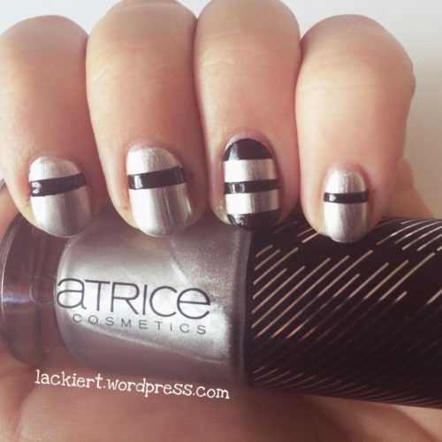 Nail Art Stripes Black and Silver