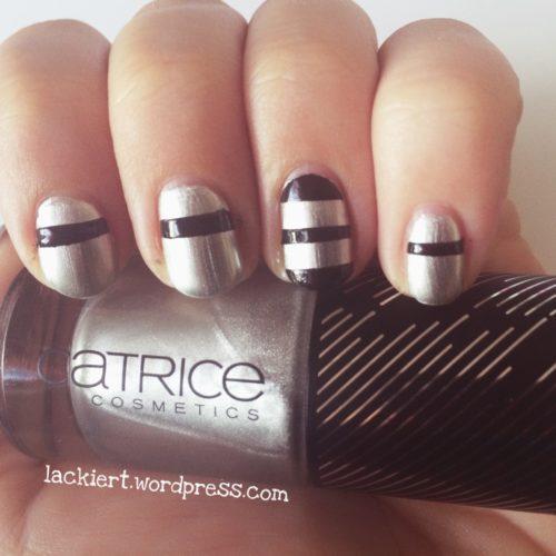 Nail Art Stripes Black and Silver