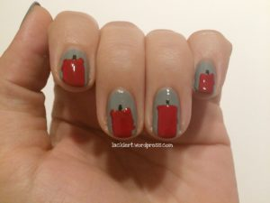 Nageldesign Advent Schritt 3