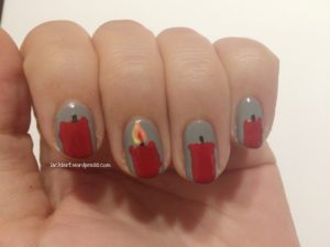 Nageldesign Adventskranz Schritt 4