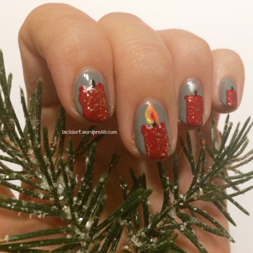 Nailart Advent Kerzen