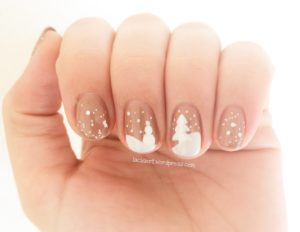 Nail Art Winter Landschaft