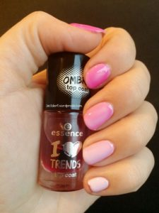 essence Adventskalender Ombré Top Coat 02 candy cane lemonade