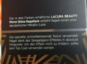 Lacura Beauty Nagellack bronze