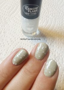 essence snow flake top coat