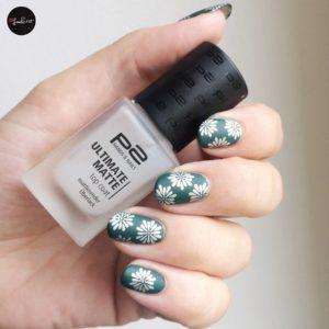 p2 ultimate matte top coat über stamping nails