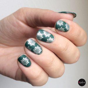 matte nailart stamping