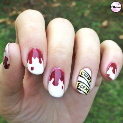 blutige Nägel zu Halloween