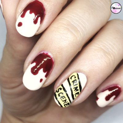 Crime Scene Nailart