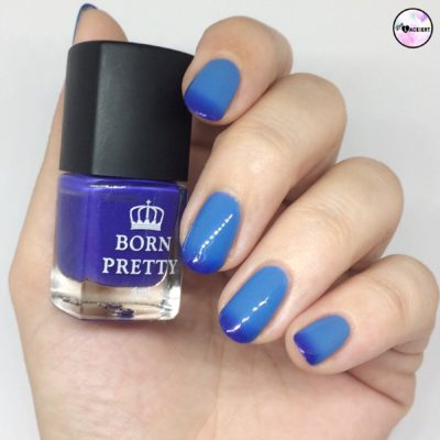 blauer Thermo Nagellack