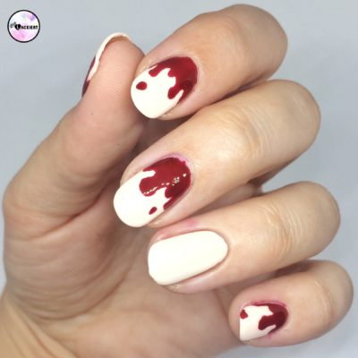 Nailart Halloween Blood