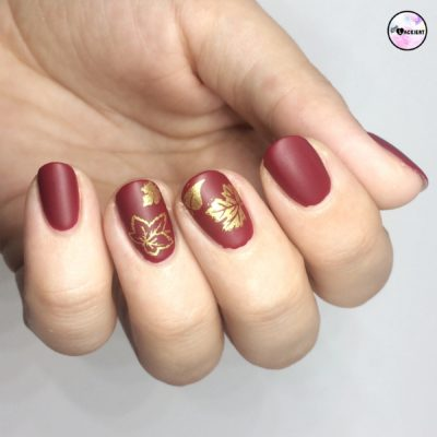 stamping nails goldener herbst