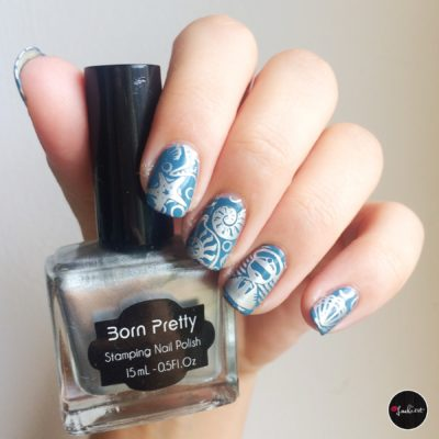 born pretty silver stamping polish