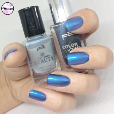 p2 Nagellacke kombiniert metalisches Blau