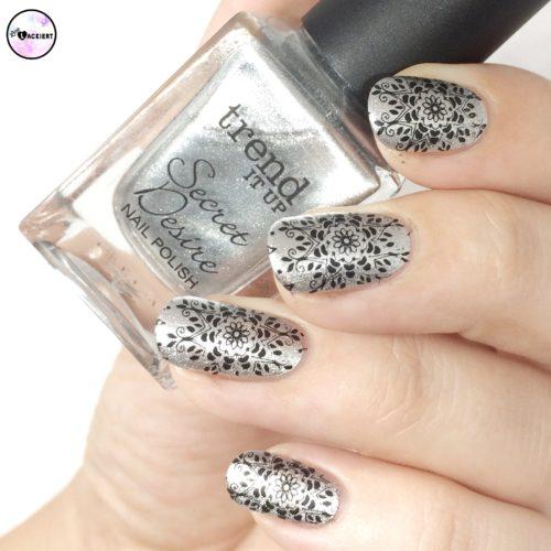 stamping black silver