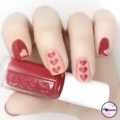 Essie Valentines nails