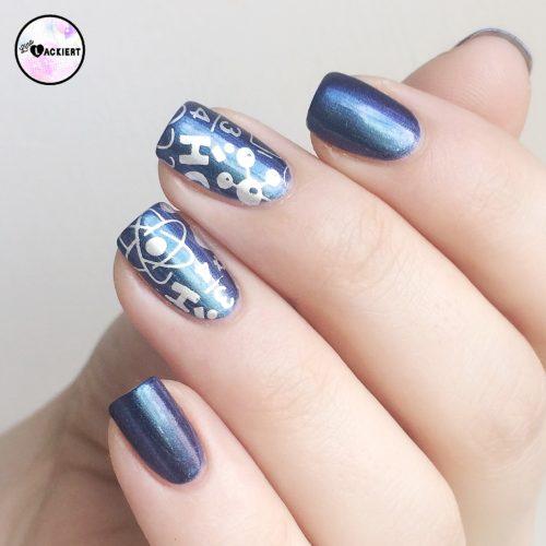 Stamping Nail Art Galaxy