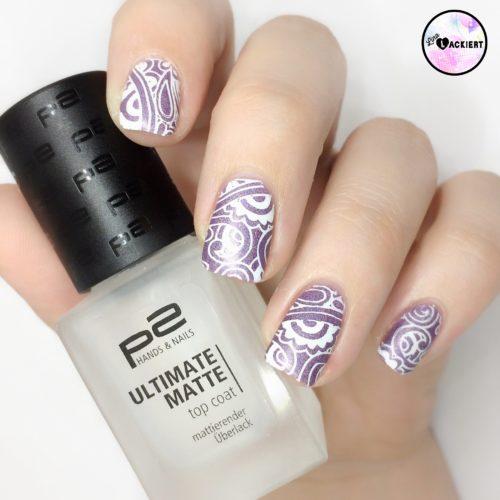 matte stamping nails