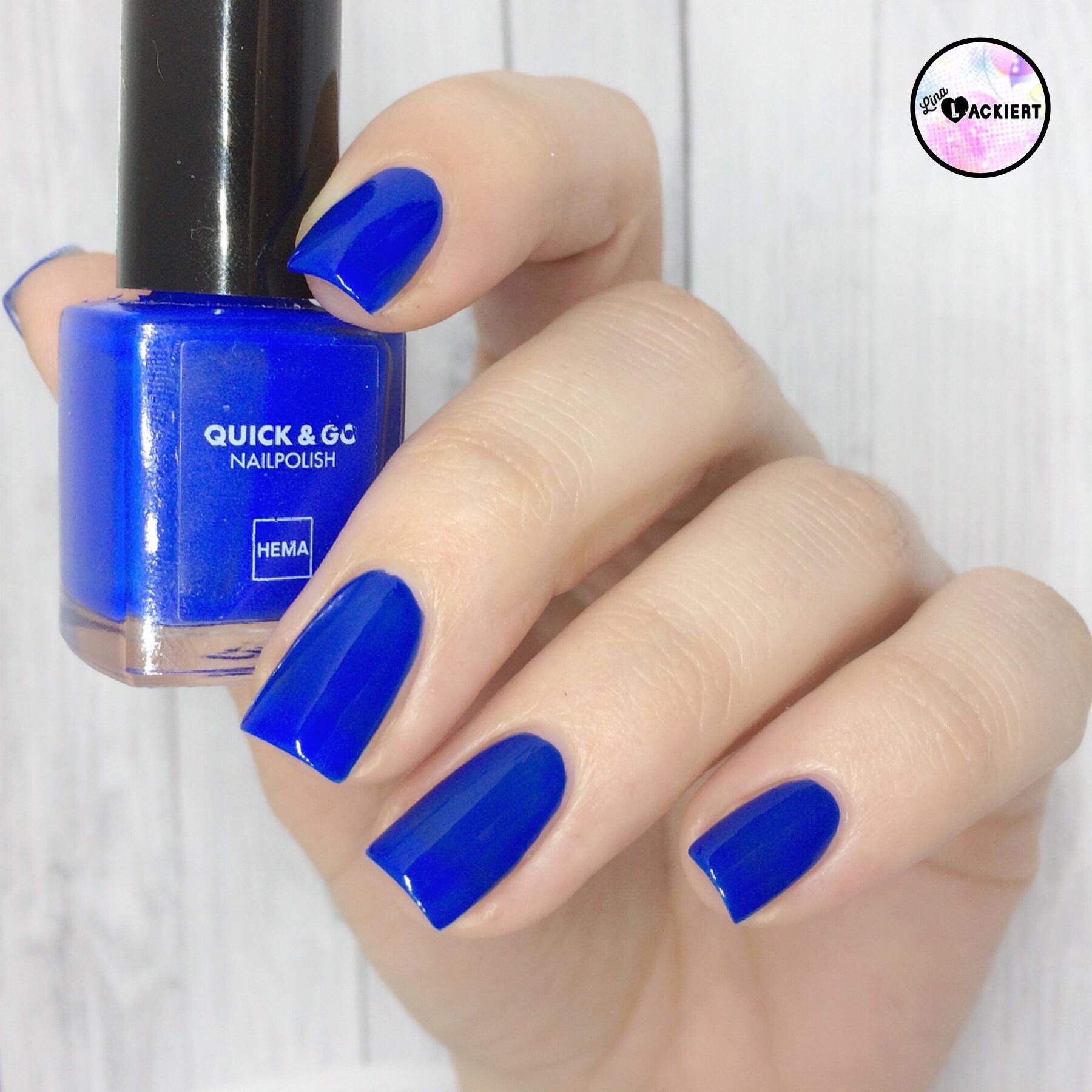 altelackeneueliebe hema nail polish 39 bold blue 39 lina lackiert. Black Bedroom Furniture Sets. Home Design Ideas