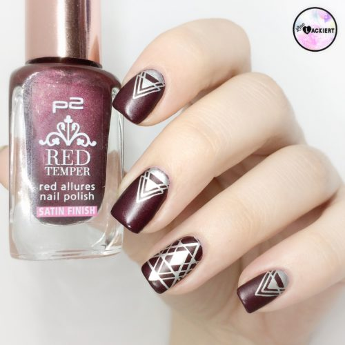 Red Nailart Stamping