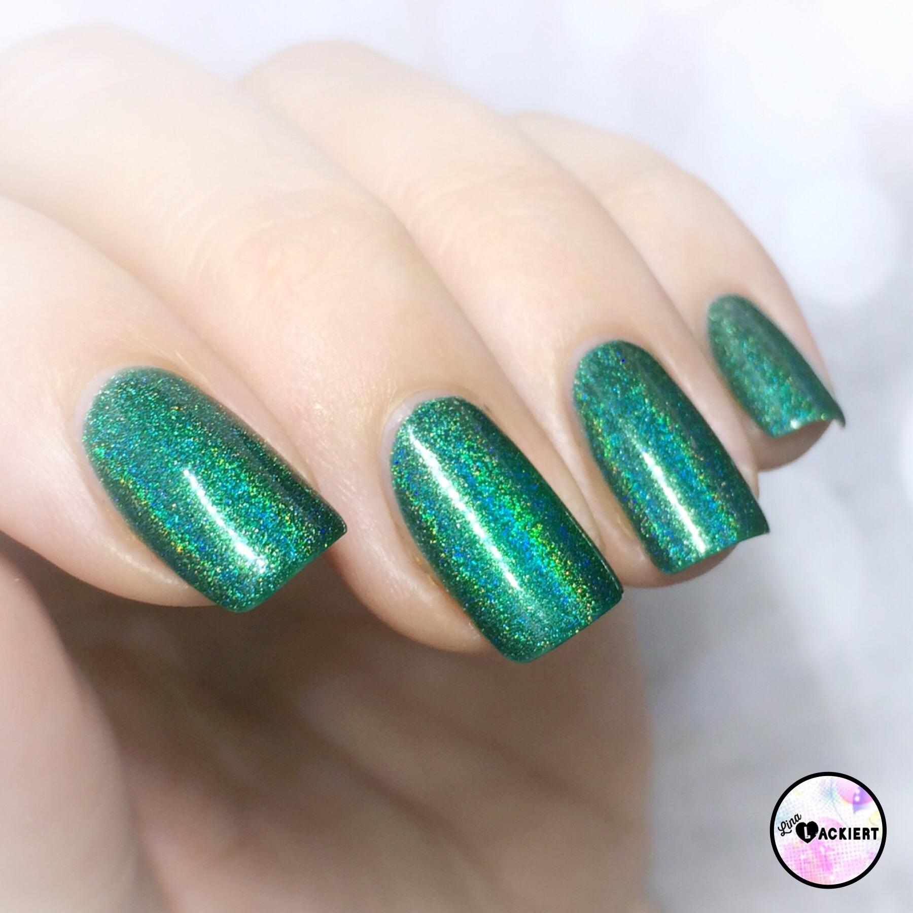 Born Pretty Holo Polish // Ein Traum in Grün | Lina-Lackiert