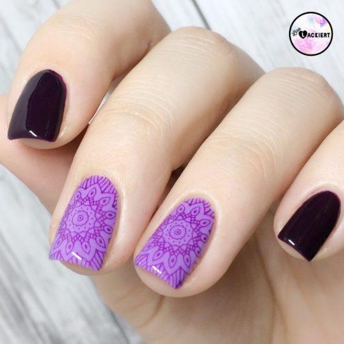 Lila Stamping Nails