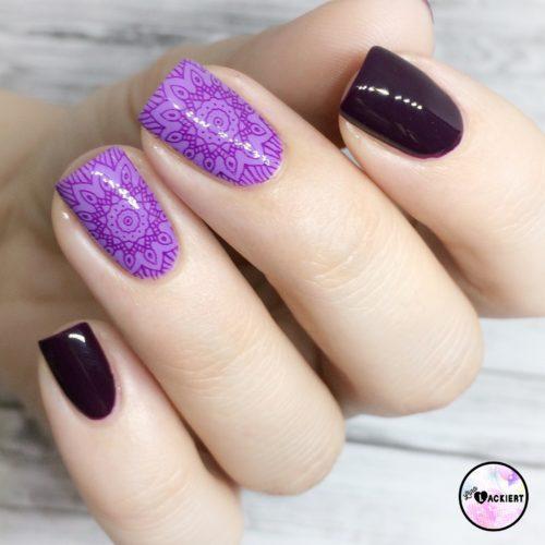 Purple Stamping Nailart