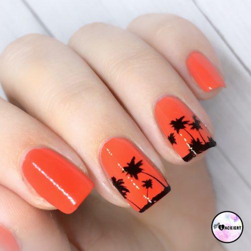 Sommer Nageldesign Palmen