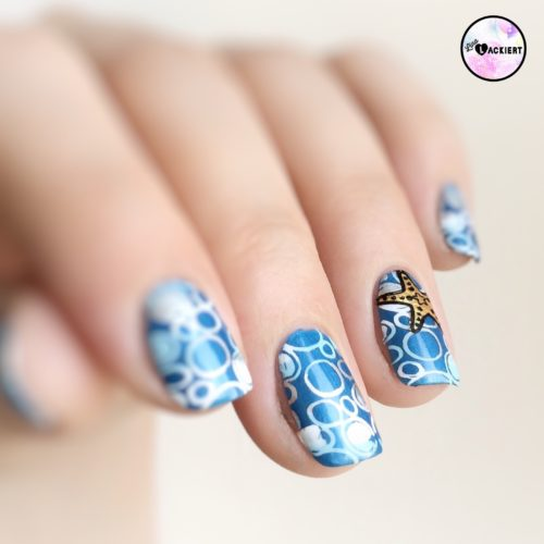Summer Nail Art Blue