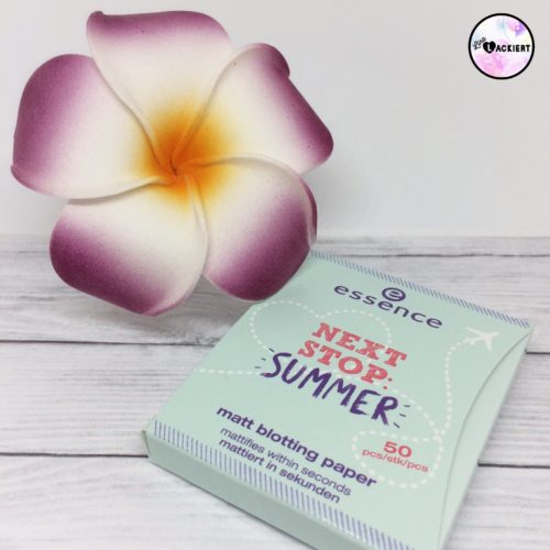 essence next stop summer TE matt blotting paper