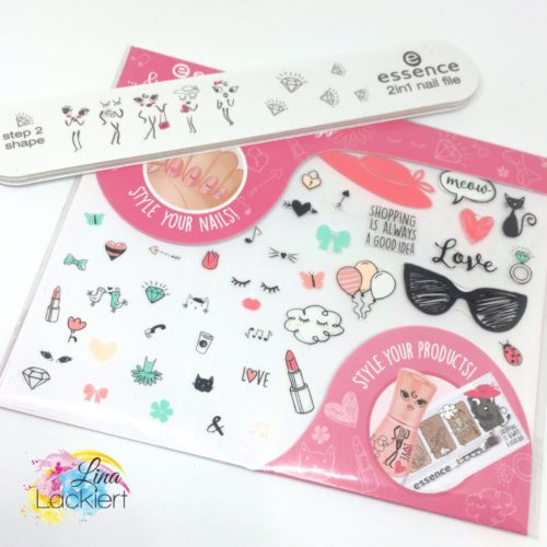 essence ...& the lovely little things nails sticker nail file