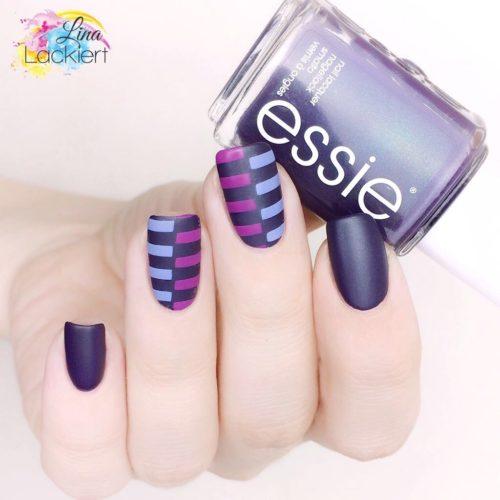 Color Blocking Nails Lina Lackiert