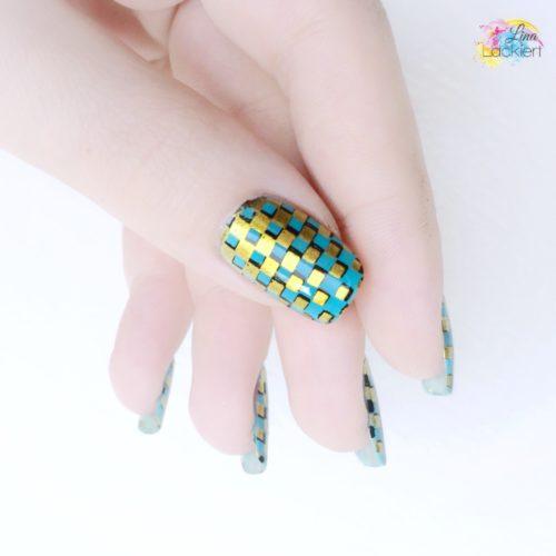 Gold stamping nails