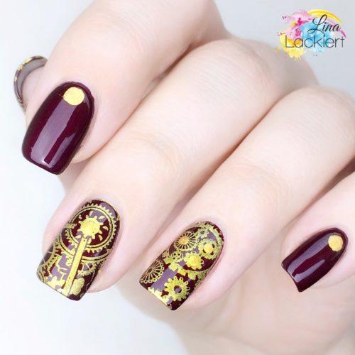 gold Stamping Nailart