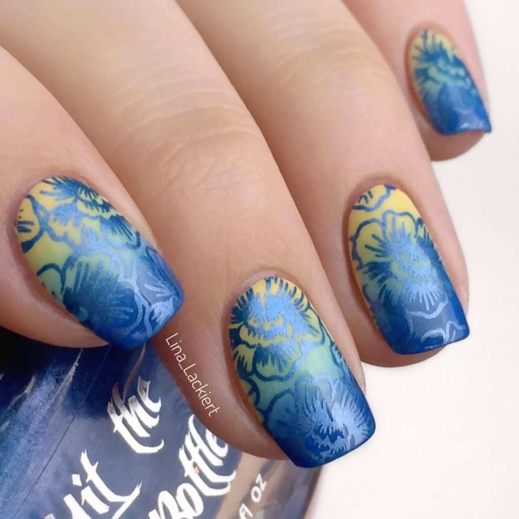 Hit the Bottle metallic stamping polish