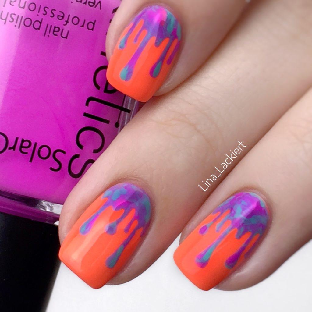 Neon Drip Nails