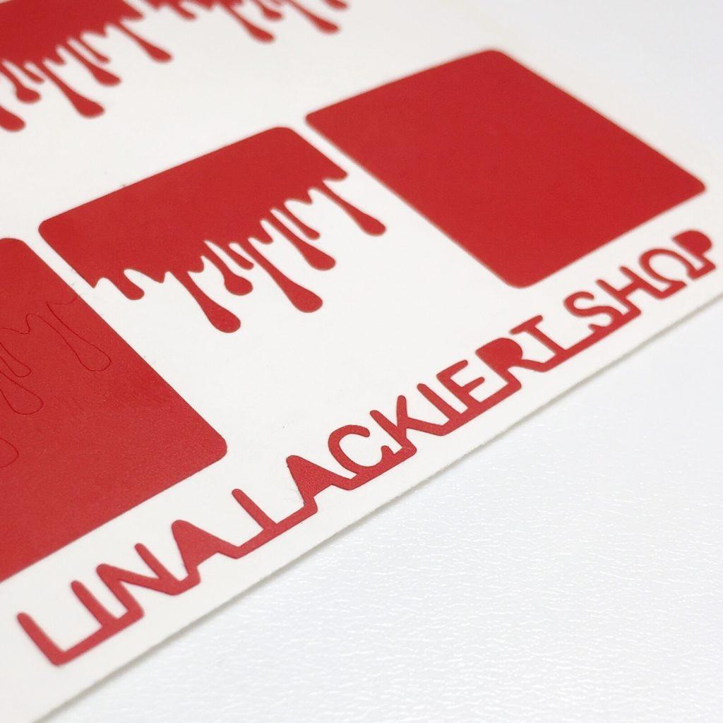 Lina Lackiert Shop Blutig Nail Vinyls