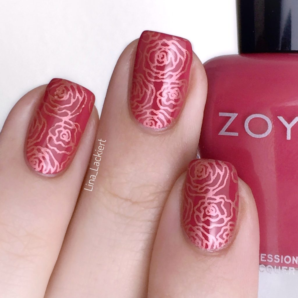 Metallic Rose Stamping